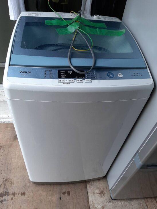 全自動洗濯機 アクア AQW-GS70E お売りいただきました。