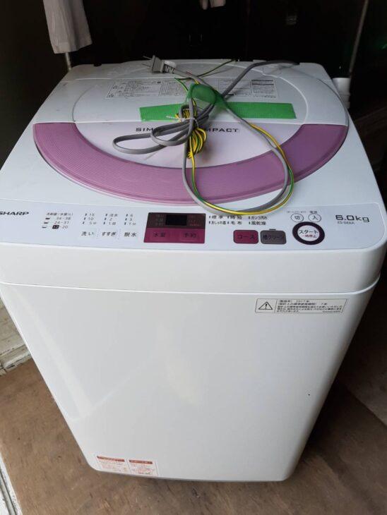 シャープ ES-GE6A 全自動洗濯機 ご依頼をいただきました。