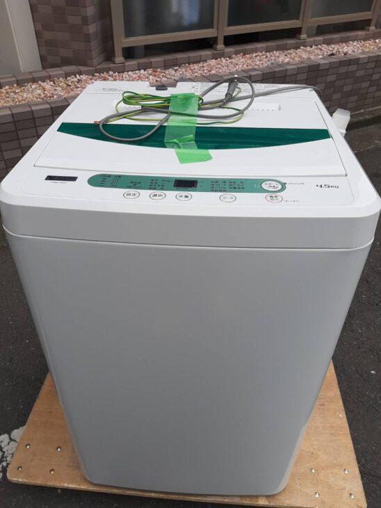 洗濯機 ヤマダセレクト YWM-T45G1 他1点 査定に伺いました。