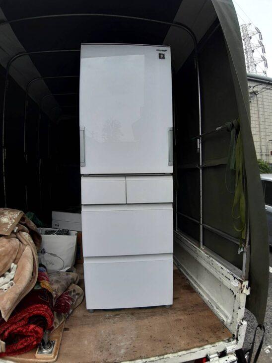 SHARP 冷蔵庫 SJ-GW41F-Wを出張査定しました
