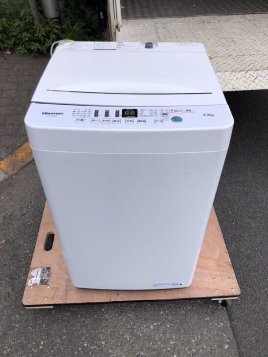 ハイセンスの全自動洗濯機を無料で引き受けしました。