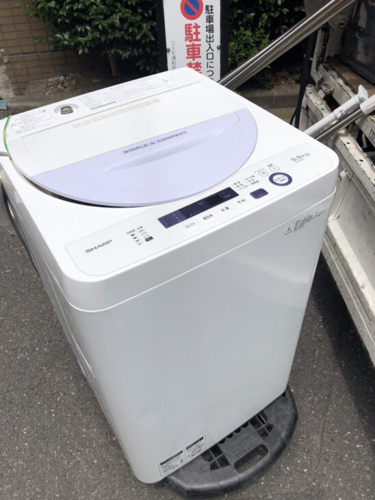 SHARP製の全自動洗濯機ES-GE5A-Vを無料にてお引き受け致しました。