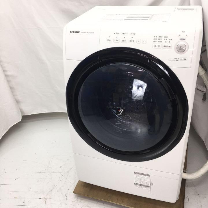 シャープ ドラム式洗濯乾燥機 ES-S7E-WL