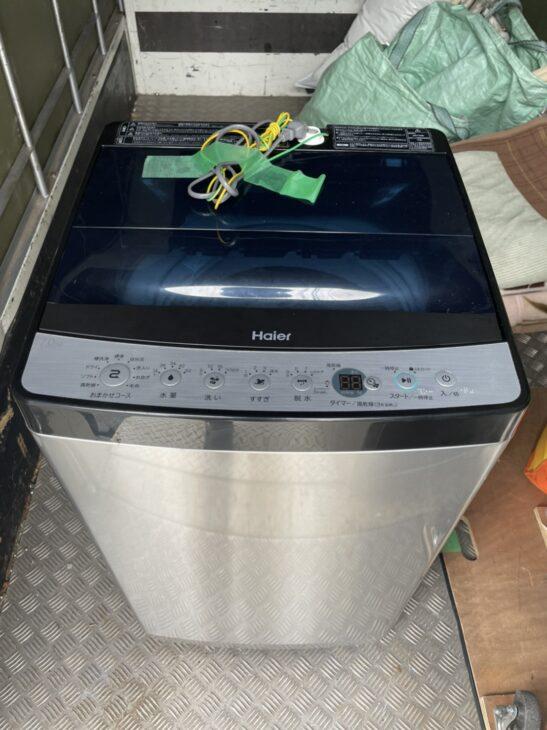 ハイアールの冷蔵庫と洗濯機をお売り頂きました