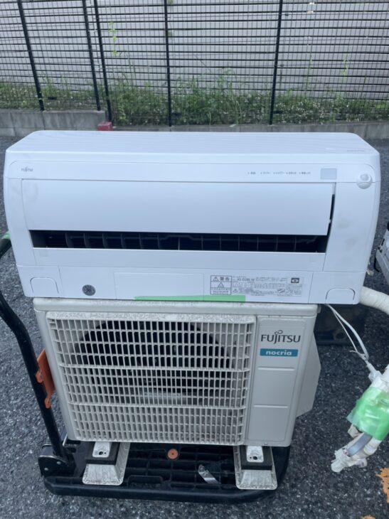 東京都江東区で富士通のエアコンをお売り頂き、お伺いしました。
