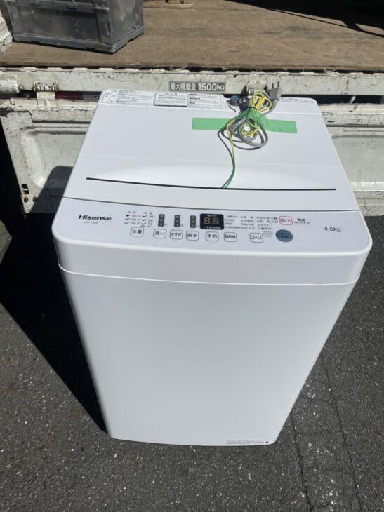 ハイセンス全自動洗濯機を無料でお引き受けしました。